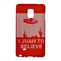 I Juan To Believe Ugly Holiday Christmas Red Background Galaxy Note Edge