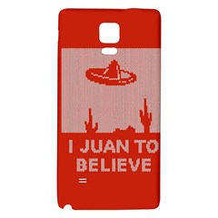 I Juan To Believe Ugly Holiday Christmas Red Background Galaxy Note 4 Back Case