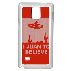 I Juan To Believe Ugly Holiday Christmas Red Background Samsung Galaxy Note 4 Case (White)