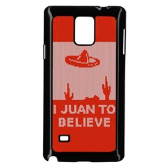 I Juan To Believe Ugly Holiday Christmas Red Background Samsung Galaxy Note 4 Case (Black)