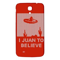 I Juan To Believe Ugly Holiday Christmas Red Background Samsung Galaxy Mega I9200 Hardshell Back Case