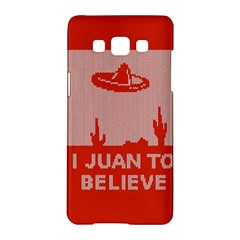 I Juan To Believe Ugly Holiday Christmas Red Background Samsung Galaxy A5 Hardshell Case