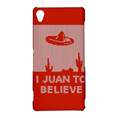 I Juan To Believe Ugly Holiday Christmas Red Background Sony Xperia Z3