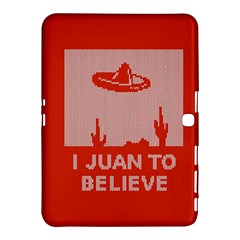 I Juan To Believe Ugly Holiday Christmas Red Background Samsung Galaxy Tab 4 (10.1 ) Hardshell Case