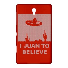 I Juan To Believe Ugly Holiday Christmas Red Background Samsung Galaxy Tab S (8.4 ) Hardshell Case