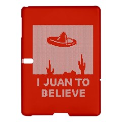 I Juan To Believe Ugly Holiday Christmas Red Background Samsung Galaxy Tab S (10.5 ) Hardshell Case