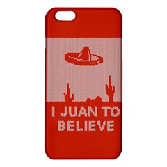 I Juan To Believe Ugly Holiday Christmas Red Background iPhone 6 Plus/6S Plus TPU Case