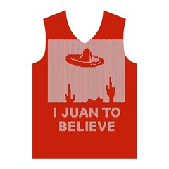 I Juan To Believe Ugly Holiday Christmas Red Background Men s Basketball Tank Top