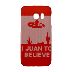 I Juan To Believe Ugly Holiday Christmas Red Background Galaxy S6 Edge