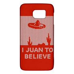 I Juan To Believe Ugly Holiday Christmas Red Background Galaxy S6