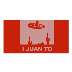I Juan To Believe Ugly Holiday Christmas Red Background Satin Shawl