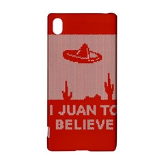 I Juan To Believe Ugly Holiday Christmas Red Background Sony Xperia Z3+
