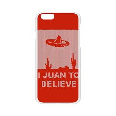I Juan To Believe Ugly Holiday Christmas Red Background Apple Seamless iPhone 6/6S Case (Transparent)