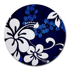 Blue Hibiscus Round Mousepads