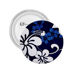 Blue Hibiscus 2.25  Buttons
