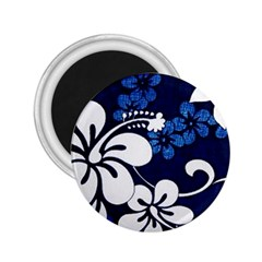 Blue Hibiscus 2.25  Magnets
