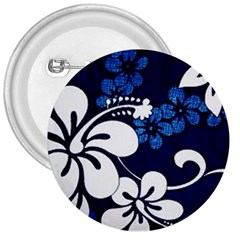 Blue Hibiscus 3  Buttons