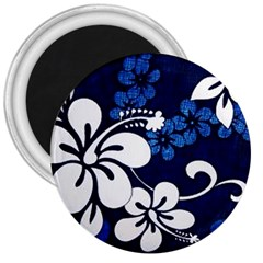 Blue Hibiscus 3  Magnets