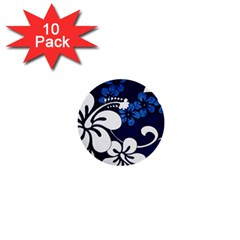 Blue Hibiscus 1  Mini Buttons (10 pack)