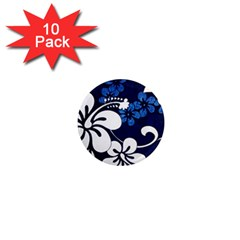 Blue Hibiscus 1  Mini Magnet (10 pack)