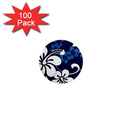 Blue Hibiscus 1  Mini Magnets (100 pack)