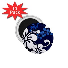 Blue Hibiscus 1.75  Magnets (10 pack)