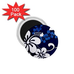Blue Hibiscus 1.75  Magnets (100 pack)