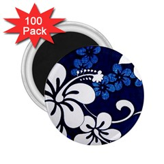 Blue Hibiscus 2.25  Magnets (100 pack)