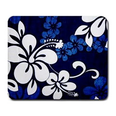 Blue Hibiscus Large Mousepads