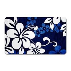 Blue Hibiscus Magnet (Rectangular)