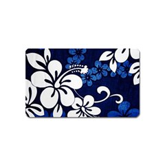 Blue Hibiscus Magnet (Name Card)