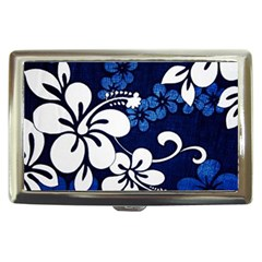 Blue Hibiscus Cigarette Money Cases