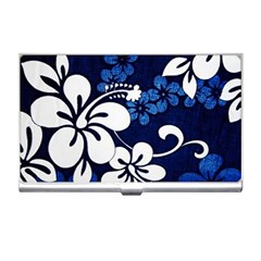 Blue Hibiscus Business Card Holders