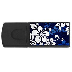 Blue Hibiscus USB Flash Drive Rectangular (1 GB)