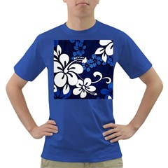 Blue Hibiscus Dark T-Shirt