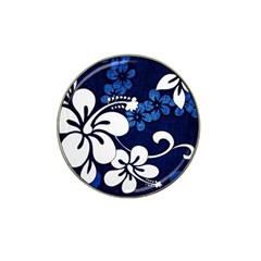 Blue Hibiscus Hat Clip Ball Marker (4 pack)