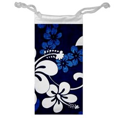 Blue Hibiscus Jewelry Bags