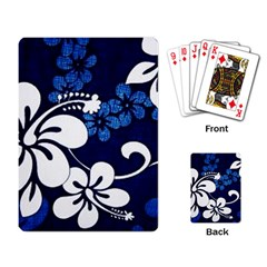 Blue Hibiscus Playing Card