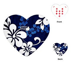 Blue Hibiscus Playing Cards (Heart)