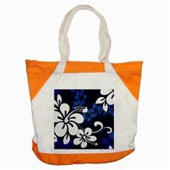 Blue Hibiscus Accent Tote Bag