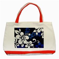 Blue Hibiscus Classic Tote Bag (Red)
