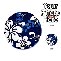 Blue Hibiscus Playing Cards 54 (Round)