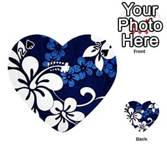 Blue Hibiscus Playing Cards 54 (Heart)