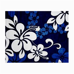 Blue Hibiscus Small Glasses Cloth (2-Side)