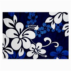 Blue Hibiscus Large Glasses Cloth (2-Side)