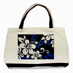 Blue Hibiscus Basic Tote Bag (Two Sides)