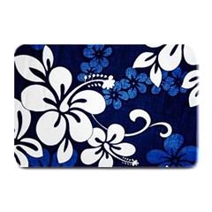 Blue Hibiscus Plate Mats
