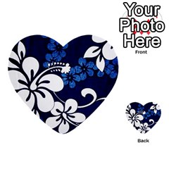 Blue Hibiscus Multi-purpose Cards (Heart)