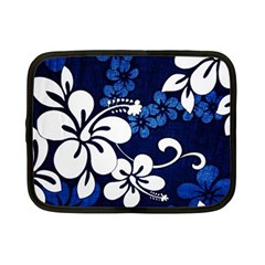 Blue Hibiscus Netbook Case (Small)