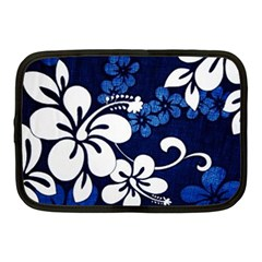 Blue Hibiscus Netbook Case (Medium)